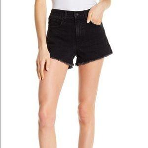 Rag & Bone NWT Justine black denim shorts 29 NEW